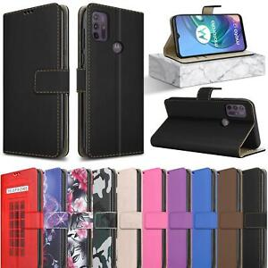 For Motorola Moto G10 XT2127 Case Leather Wallet Magnetic Flip Stand Phone Cover
