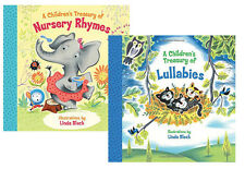 A Childrens Treasury of Nursery Rhymes & Lullabies Linda Bleck (2 Paperbacks)