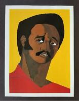 "Jacob Lawrence ""Jesse Jackson"" Mounted off-set Color Lithograph 1998"