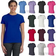 Hanes Ladies Nano-T 100% Cotton T-Shirt Womens S-2XL Tee SL04