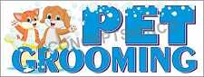 3'X8' PET GROOMING BANNER Outdoor Sign LARGE Groomer Vet Clippers Dogs Cats Wash