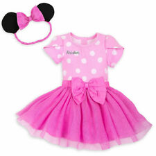 NWT Disney Store 3 6 9 12 18 24 M Minnie Mouse Bodysuit Costume & Ears Baby NEW