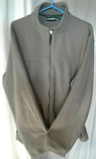 Pre Owned Men's LL Bean Full Zippered Fleece Shell XL Tall Grey 100% Polyester