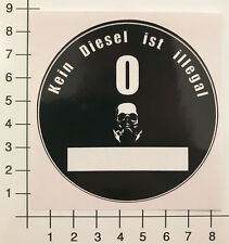 UMWELTPLAKETTE KEIN DIESEL IST ILLEGAL Aufkleber Sticker Feinstaubplakette Mi348