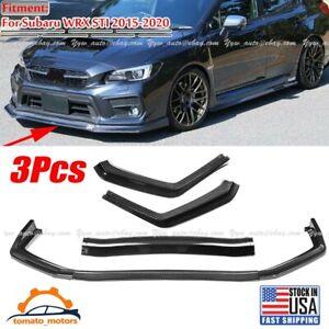 Carbon Fiber Front Bumper Lower Lip Body Kit Spoiler For Subaru WRX STI 15-21 US