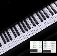 Keyboard Piano Multicolor Removable Piano and Keyboard 'Stickers for 49 61 76 BH