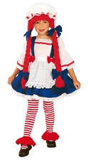 Childrens Rag Doll Fancy Dress Costume Dolly Toy Halloween Outfit 5-7 Yrs