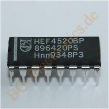2 x HEF4520BP Dual binary counter Philips DIP-16 2pcs