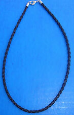 "Western Jewelry 20"" Braided BlackHorse Hair 4 MM Necklace"