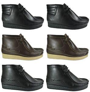 Mens Nicholas Deakins Leather Boots New Hi Tops Lace Ups Shoes Sale Size 7-11
