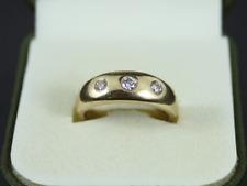 Diamond Trilogy Ring 18ct Gold Ladies Size P 750 5.6g Fe64