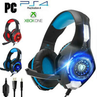 For PS4 Nintendo Switch Xbox One 3.5mm Wired Gaming Headset LED Headphone w/Mic