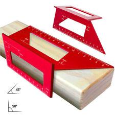 45/90° Aluminum Precision Angle Gauge Corner Machinist Square Ruler Measuring US