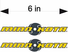 "MINN KOTA / 6"" PAIR High Quality Decals / Boat Graphics / Vinyl Stickers"
