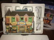 """2008 Carole Towne Porcelain Lighted House, """"Corado's Grocery Store"""" by Lemax"""