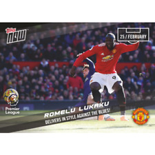 ROMELU LUKAKU MANCHESTER UNITED PREMIER LEAGUE TOPPS NOW CARD 127 DELIVERS STYLE