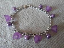Handmade Bracelets ~ Little Girls ~ Purple ~ Charms