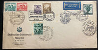 1938 Vienna Germany Mixed Franking Airmail Cover Eternal Jew Cancel