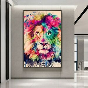 Painting Pictures Home Decor Art Poster On The Wall Lion Modern Abstracts