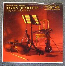 Haydn Quartets in C Op 74 No 1 & G Op 77 No 1 LP Juilliard String Quartet 1957