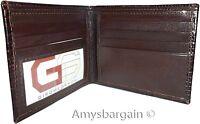 Italian Style Woven Printed Leather man's bi fold wallet 2 billfolds 8 card 1 ID