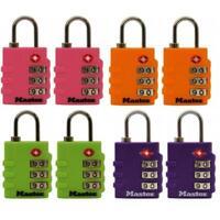 Master Lock Assorted Colors Luggage Locks 4684T