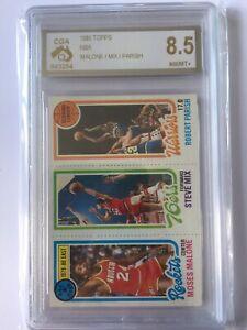 1980 Topps Nba Moses Malone Mix Robert Parish CGA 8.5 Rockets 76ers Warriors