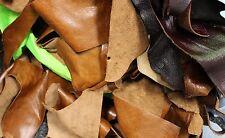 1kg Borsa di pelle di qualità mista di scarto Arts & Crafts, Spento Tagli, scampoli, pezzi
