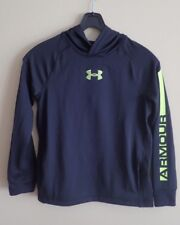 UNDER ARMOUR BLACK HOODIE WITH NEON GREEN LOGO YOUTH YSM/JP/P