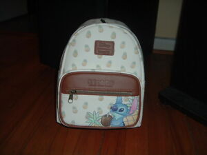 LOUNGEFLY DISNEY STITCH PINEAPPLE MINI BACKPACK~ WITH TAGS~BRAND NEW~