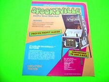 Allied SPOOKSVILLE Original 1973 Unusual Upright Pinball Machine Sales Flyer Adv