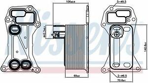 """7808437 Scambiatore OLIO per BMW SERIE 3 - 5 - 7 - X5 - X6 08"""" -> 17"""" NUOVO"""