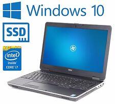 """Dell Latitude E6540 15.6"""" i7 4600M 2.9Ghz 8GB 240GB SSD HDMI Windows 10 Pro"""