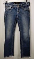 Express Juniors Barely Boot Stella Low Rise Stretch Distressed Size 0 Jeans