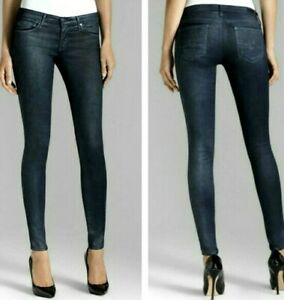 AG ADRIANO GOLDSCHMIED midnight coated The legging Super Skinny Jeans ~ sz 29