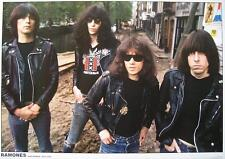 RAMONES POSTER AMSTERDAM 1977 LEAVE HOME TOUR