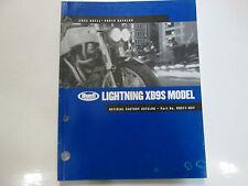 2003 Buell Lightning XB9S Models Parts Catalog Manual FACTORY OEM BOOK NEW