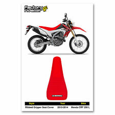 2013-2014 HONDA CRF 250 L PLEATED RED GRIPPER SEAT COVER BY Enjoy MFG