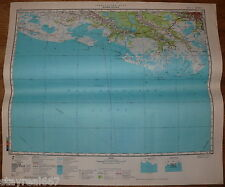 Authentic Soviet Army Military Topographic Map New Orleans, State Louisiana, USA