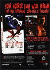 THE EVIL WITHIN__Original 1994 Trade AD horror movie promo__a.k.a. BABY BLOOD
