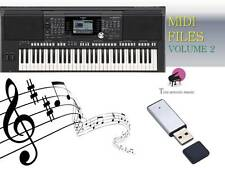 MIDI File Karaoke USB stick for PSR S950 S970  NEW Volume 2
