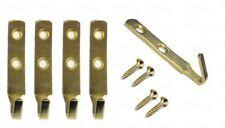 J Picture Hook Heavy Duty Brass Mirror Hanging Hooks 60mm Frame Wall Fixings x 5