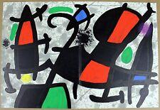 JOAN MIRO Lithograph 1970 Untitled Original Color Art from Derriere le Miroir #2