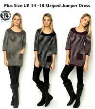 Long Sleeve Crew Neck Jumper Dresses Plus Size for Women