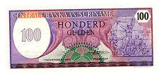 SURINAME…..P-128…..100 Gulden…..1985…..*UNC*
