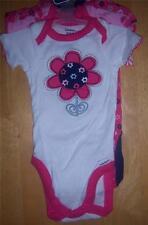3 New Gerber Girl's Onesies, Baby Shower, Newborn, Flower