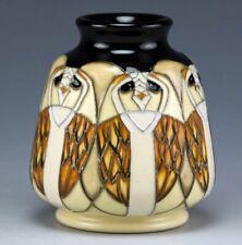 MOORCROFT THE LEGENDARY TENGU OWL VASE, SHAPE 198/3, 1st QUALITY, RRP £170.00