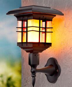 4 In 1 Solar Powered Outdoor Flickering Flame Garden Lantern
