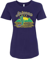 Arizona Cactus Women's Fitted T-Shirt US State Pride Desert Plant