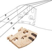 E A String Ebony Insert Wood Violin Bridge Full 4-4 Violin DIY Accessories